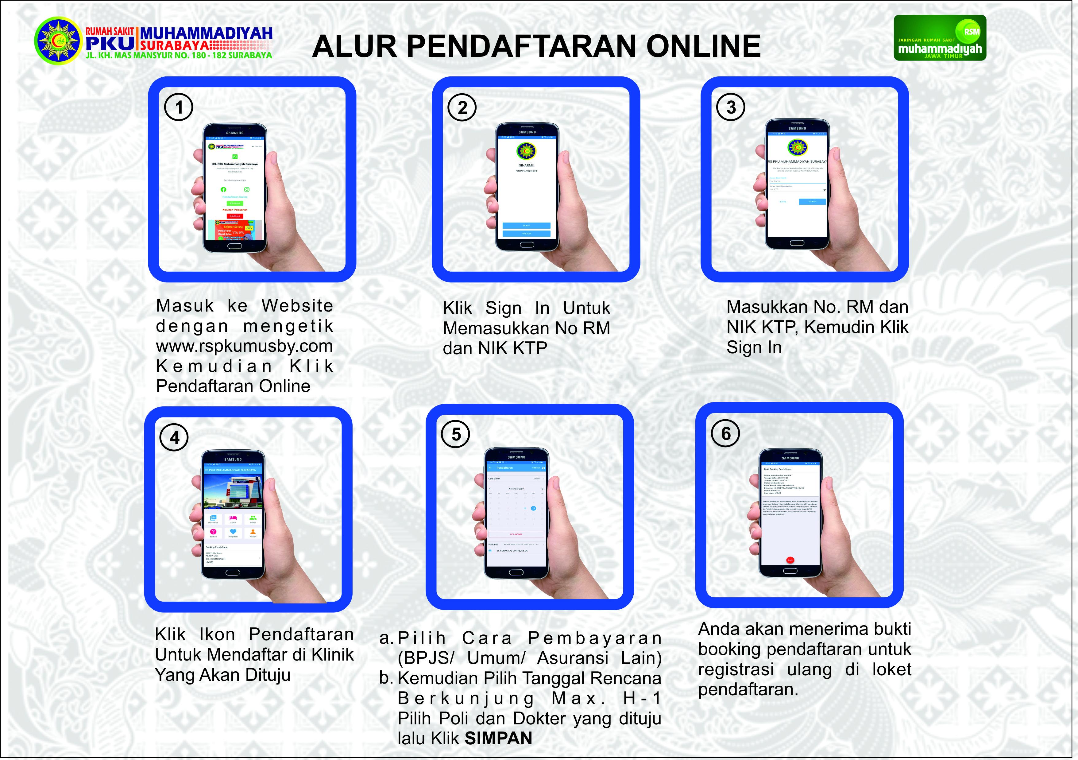 Alur Pendaftaran Via Website
