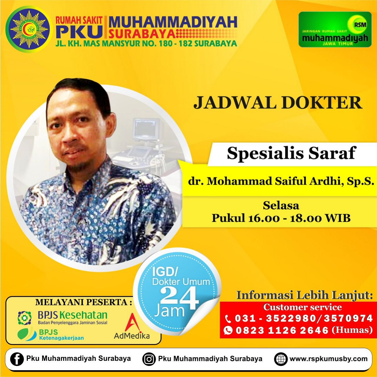 Jadwal dokter Ardhy