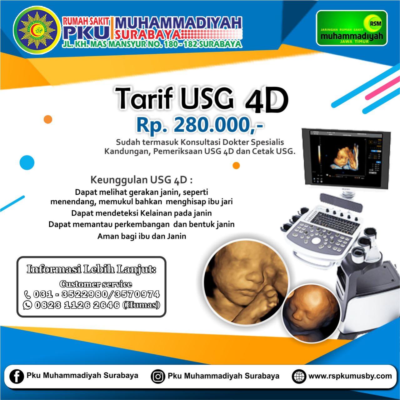 Tarif USG 4D